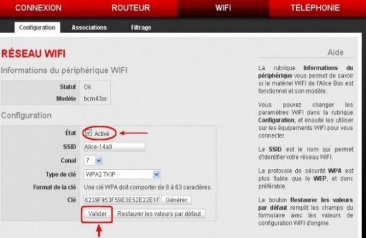 alice box activer le wifi 2