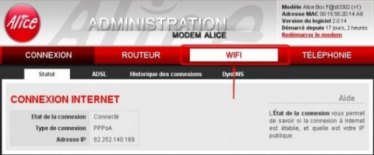 alice box changer le protocole de securite du wifi 1