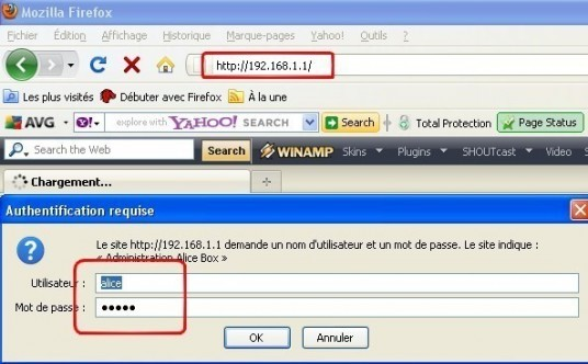 Alice Box changer le protocole de sécurité du Wifi