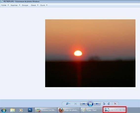 Alléger les photos sans logiciel particulier sur windows