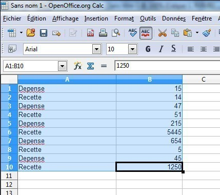 Alterner couleurs et lignes sur calc open office - Comment faire un organigramme sur open office ...