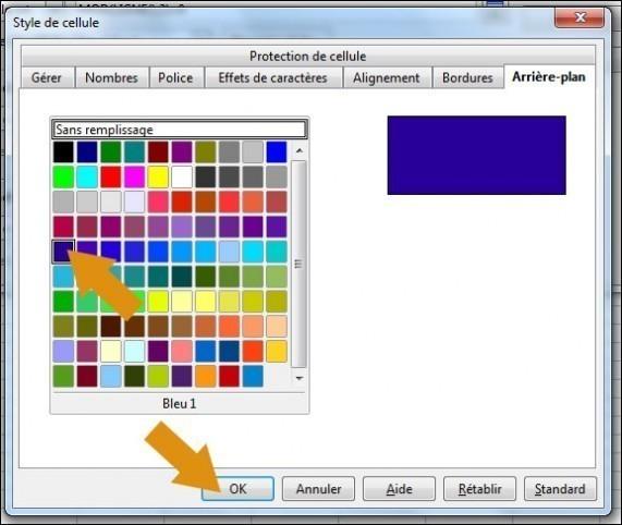 alterner couleurs et lignes sur calc open office 4