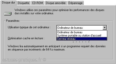 ameliorer les performances sur windows 98 1