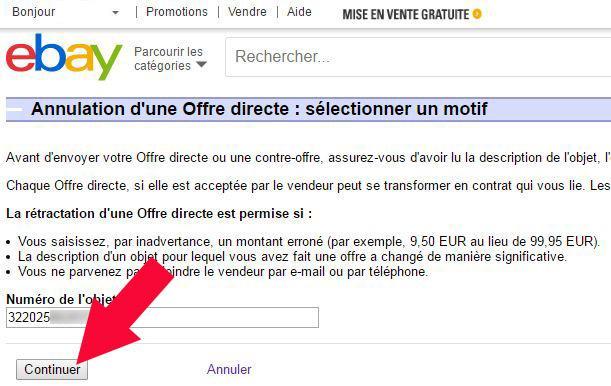 annuler offre directe ebay - astuces pratiques