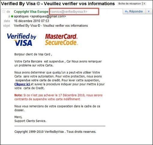 arnaque par email mastercard et visa 1