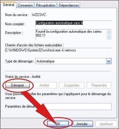 aucun reseau sans fil wifi detecte sur xp 4