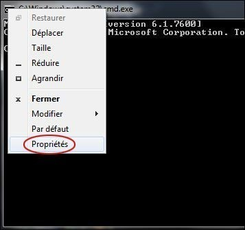 augmenter memoire tampon de l invite de commandes 1
