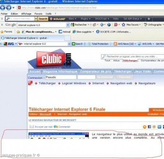Bug Internet Explorer 8.0 (partie blanche)