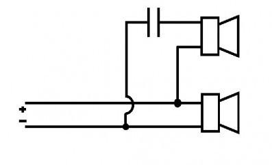 Câblage filtre pour enceinte sono