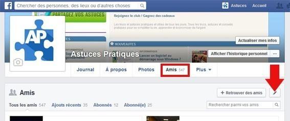 cacher les amis facebook 1