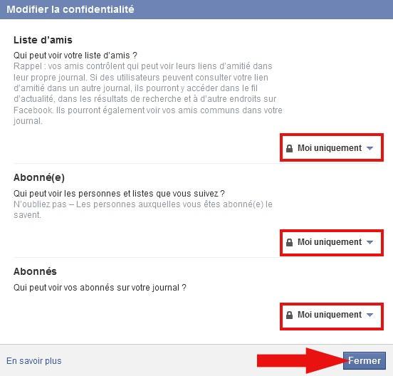cacher les amis facebook 3