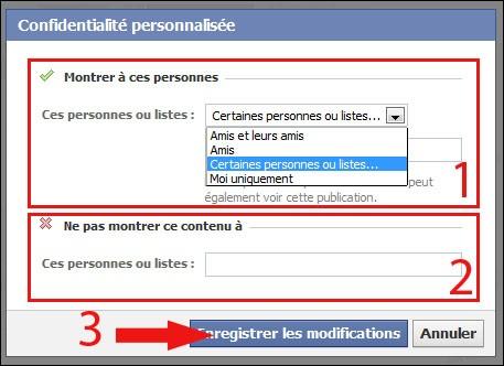 cacher une publication sur facebook 3