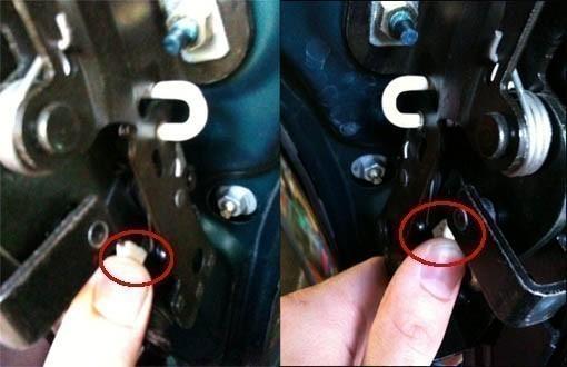 changer le cable de verrouillage du toit de 206 cc 2