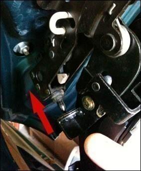 changer le cable de verrouillage du toit de 206 cc 3