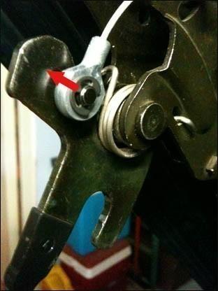 changer le cable de verrouillage du toit de 206 cc 6