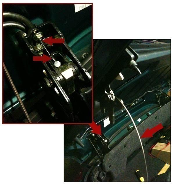 changer le cable de verrouillage du toit de 206 cc 9