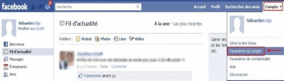 Changer son mot de passe Facebook