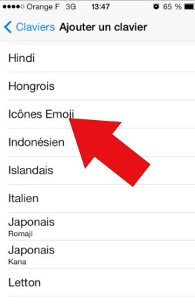 comment activer les emoticones sur iphone ios7 6
