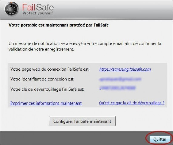 comment desinstaller failsafe 4