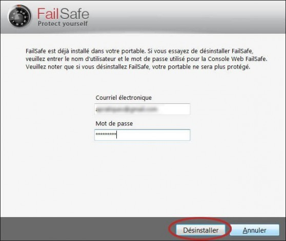 comment desinstaller failsafe 8