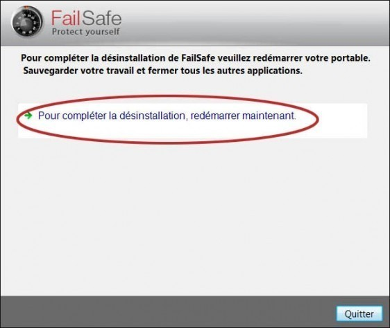 comment desinstaller failsafe 9