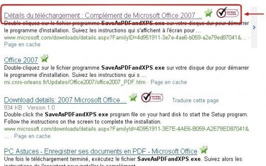complement microsoft pdf et xps pour office 2007 1