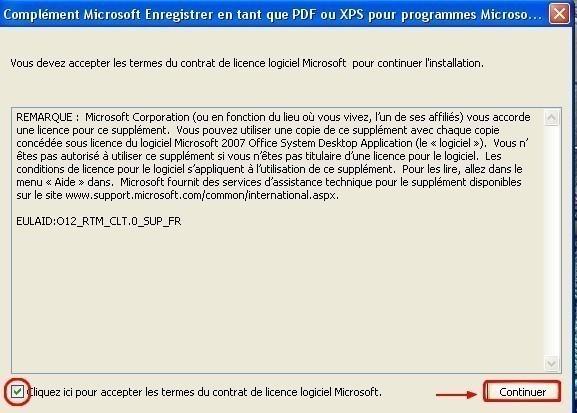 complement microsoft pdf et xps pour office 2007 7