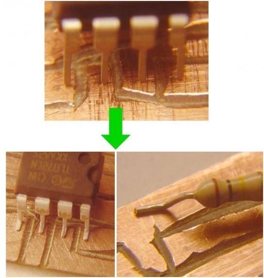 composant electronique traditionnel monte en cms 2
