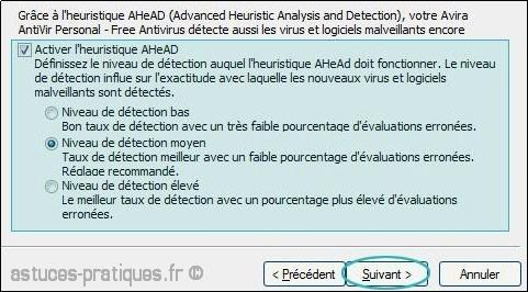configuration de antivir 1