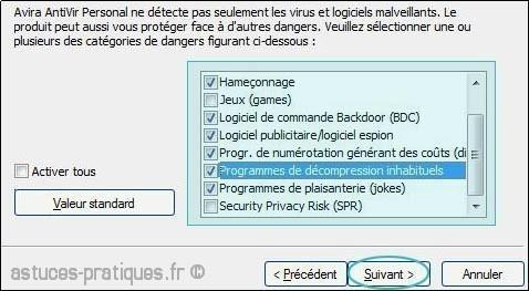 configuration de antivir 2