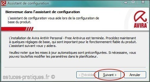 configuration de antivir 5