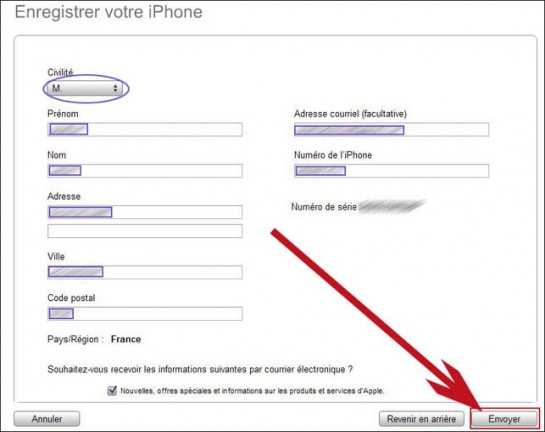 configuration de l iphone avec itunes 2