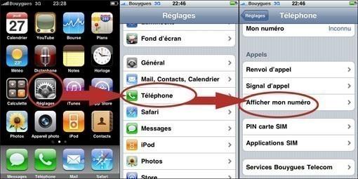 configurer l iphone pour appeler en masque 0