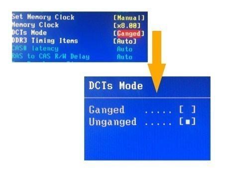 configurer le mode et l horloge memoire ram 5
