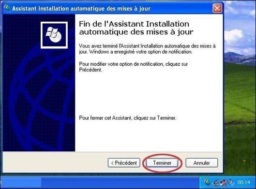 configurer les mises a jours automatiques sur xp sp1 2