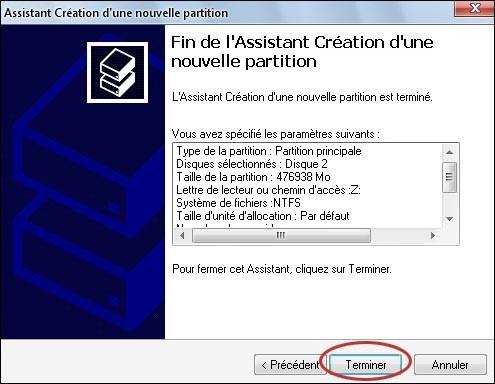 convertir une partition disque gpt en ntfs 8