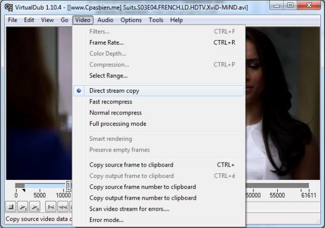 couper le debut et fin d un divx avec virtualdubmod 1