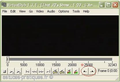 Couper le debut et fin sur un divx avec virtualdub