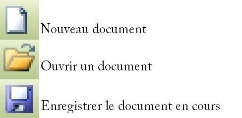 Créer ou enregistrer et ouvrir un document