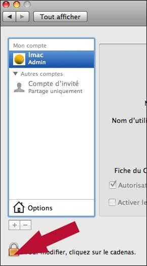 creer ou supprimer un compte utilisateur sur mac osx 2