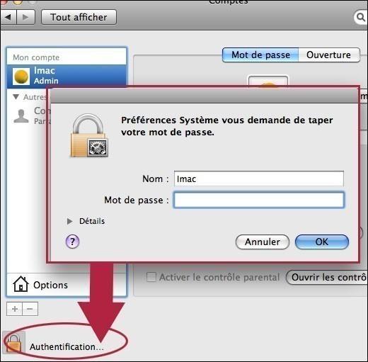 creer ou supprimer un compte utilisateur sur mac osx 3