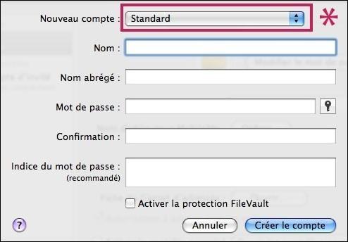 creer ou supprimer un compte utilisateur sur mac osx 5