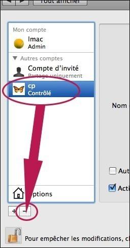 creer ou supprimer un compte utilisateur sur mac osx 6