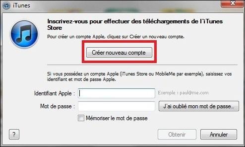 creer un compte iTunes sans carte bancaire 2