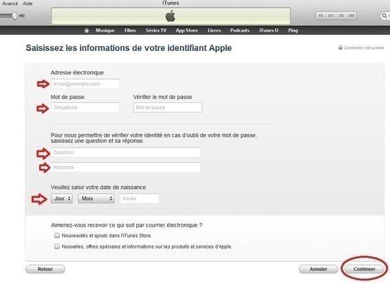 creer un compte iTunes sans carte bancaire 5