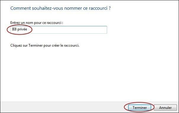 Cr er un raccourci pour ouvrir internet explorer en for Raccourci pour fermer une fenetre