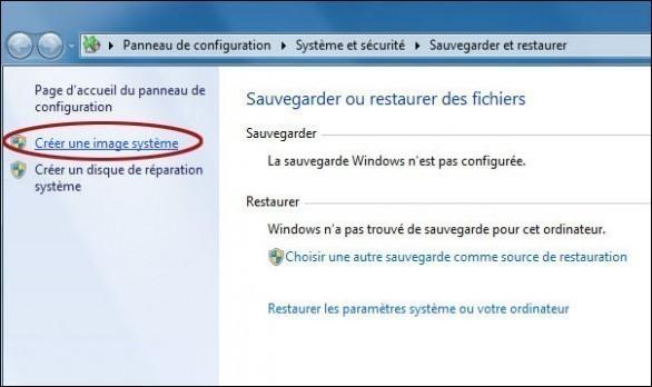 creer une image systeme de windows 7 1