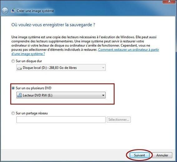 creer une image systeme de windows 7 2