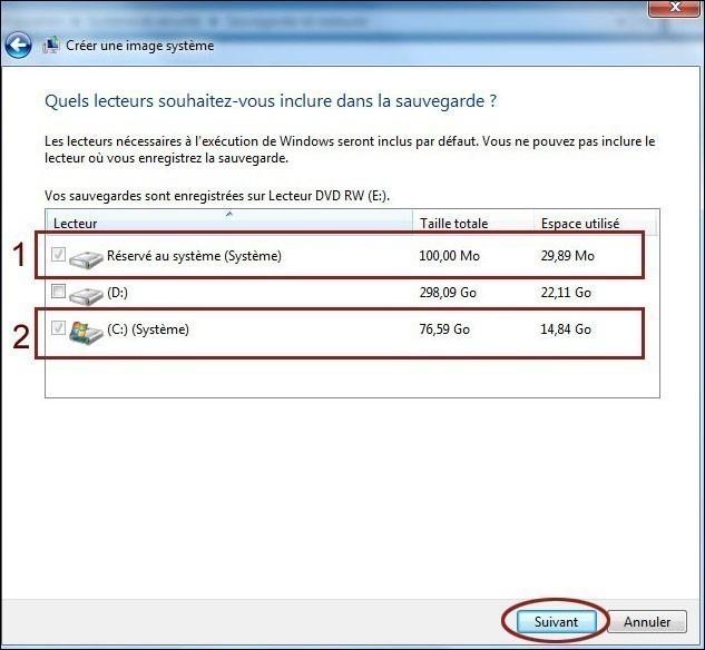 creer une image systeme de windows 7 3