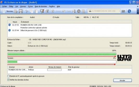 creez un cd audio a partir de fichiers mp3 avec nero 6